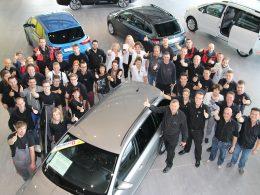 Gruppenfoto Auto Welt von Rotz
