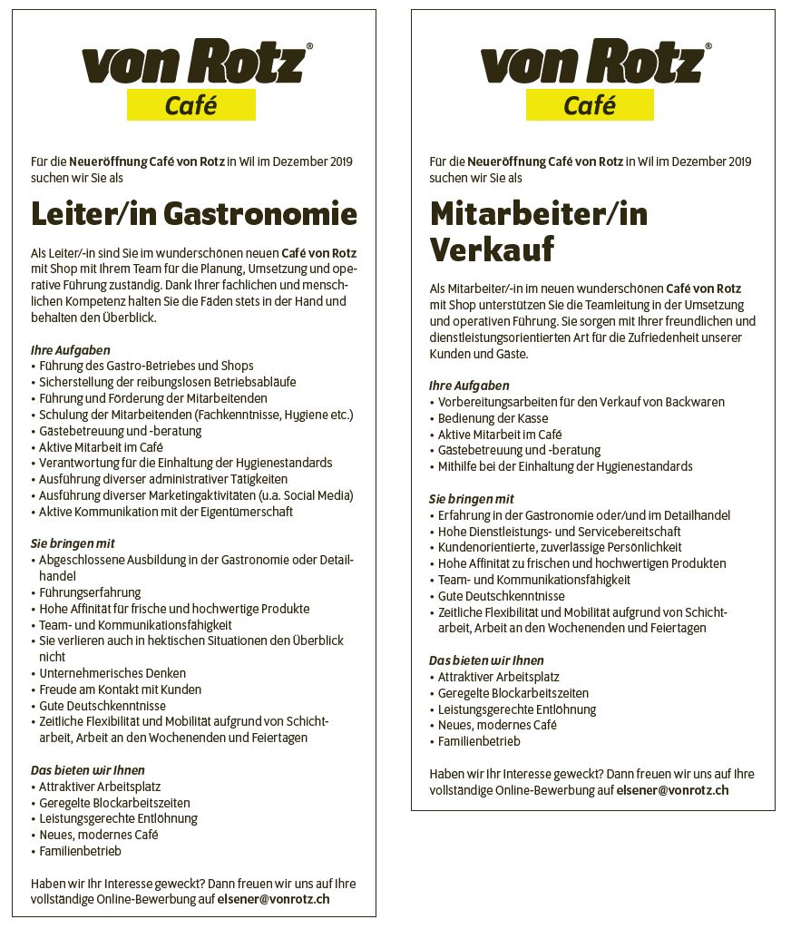 Jobs - Auto Welt von Rotz AG