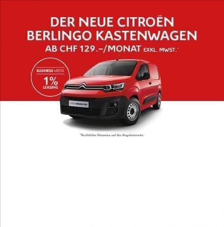 Die CITROËN BUSINESS WEEKS im November in der Auto Welt von Rotz AG in Wil - Auto Welt von Rotz AG