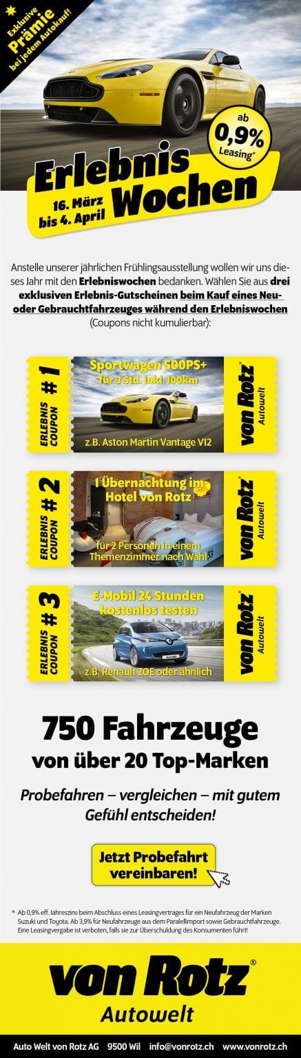 Erlebnis Wochen - Auto Welt von Rotz AG 4