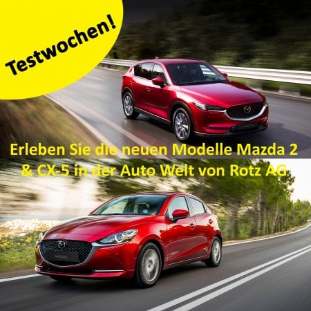 Mazda 2 oder Mazda CX-5 testen, geniessen und Prämien sichern – jetzt bei der Auto Welt von Rotz AG - Auto Welt von Rotz AG 3