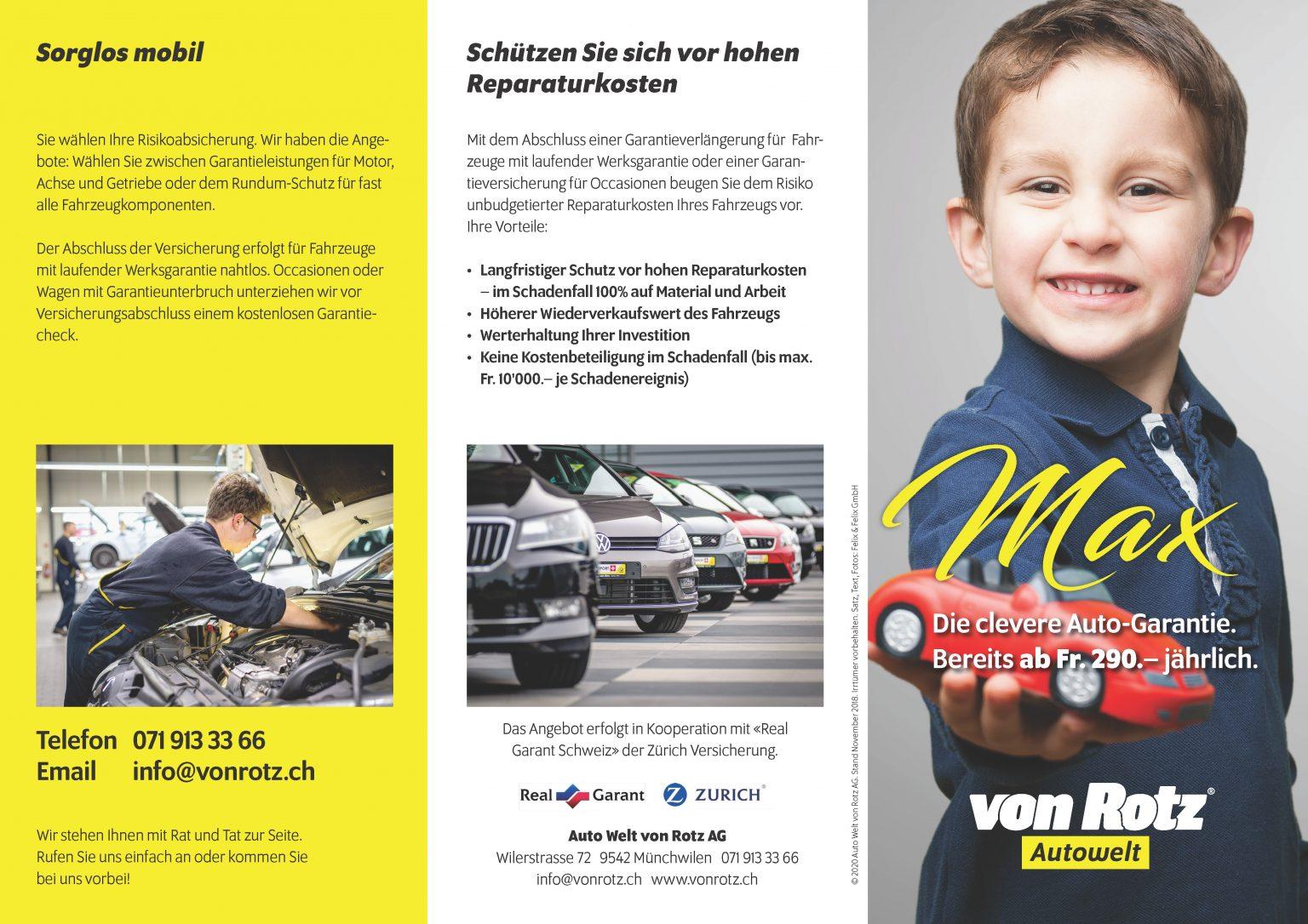 Garantieverlängerung - Auto Welt von Rotz AG 3